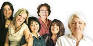groupof laughing women