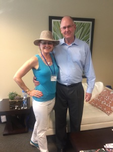 Steve Simon, CEO of WTA and Deb Dutcher, Health Coach